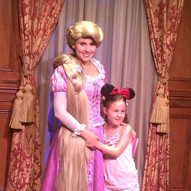 One little girls dream came true yesterday #disney meeting rapunzel