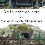 Big Thunder Mountain Vs Seven Dwarfs Mine Train #disneyworldflorida The Life Of Spicers