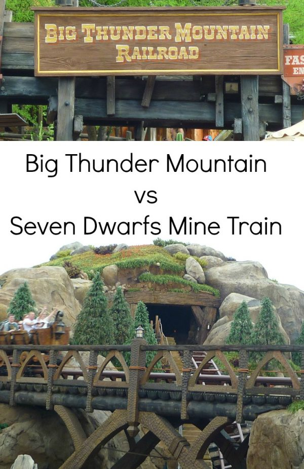 Big Thunder Mountain Vs Seven Dwarfs Mine Train #disneyworldflorida The Life Of Spicers