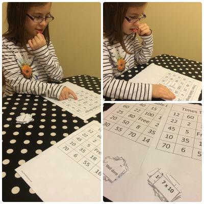 Times table Bingo
