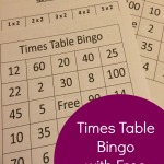 Times Table Bingo With Free Printable