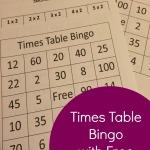 Times Table Bingo With Free Printable
