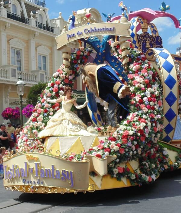 Beauty and the Beast Festival of Fantasy Parade float