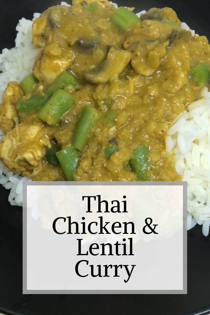 thai chicken and lentil curry