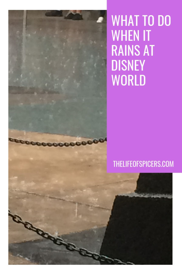 what to do when it rains at Disney World
