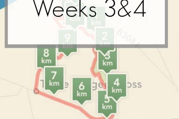 Moon Walk Training Diary Weeks 3 & 4