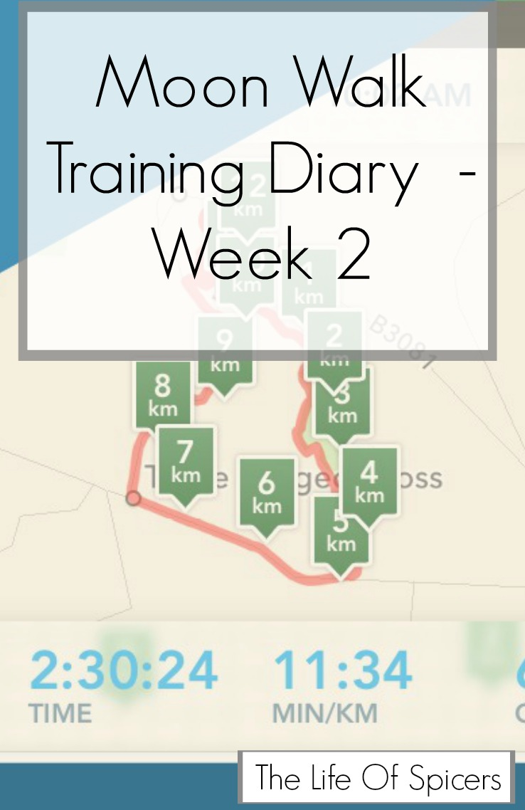 Moon Walk Training Diary Week 2