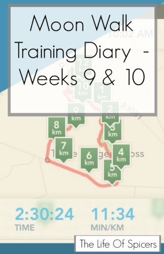 Moon Walk 2016 Training Diary Weeks 9 & 10