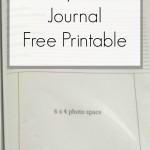 Disney Travel Journal – Free Printable
