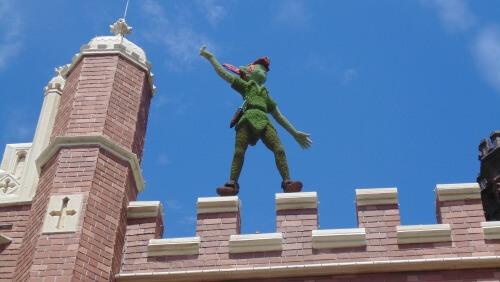 epcot Peter Pan topiary