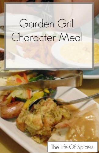 Garden Grill character dinner