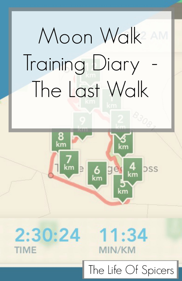 Moonwalk Training Diary – The 20 Mile Walk