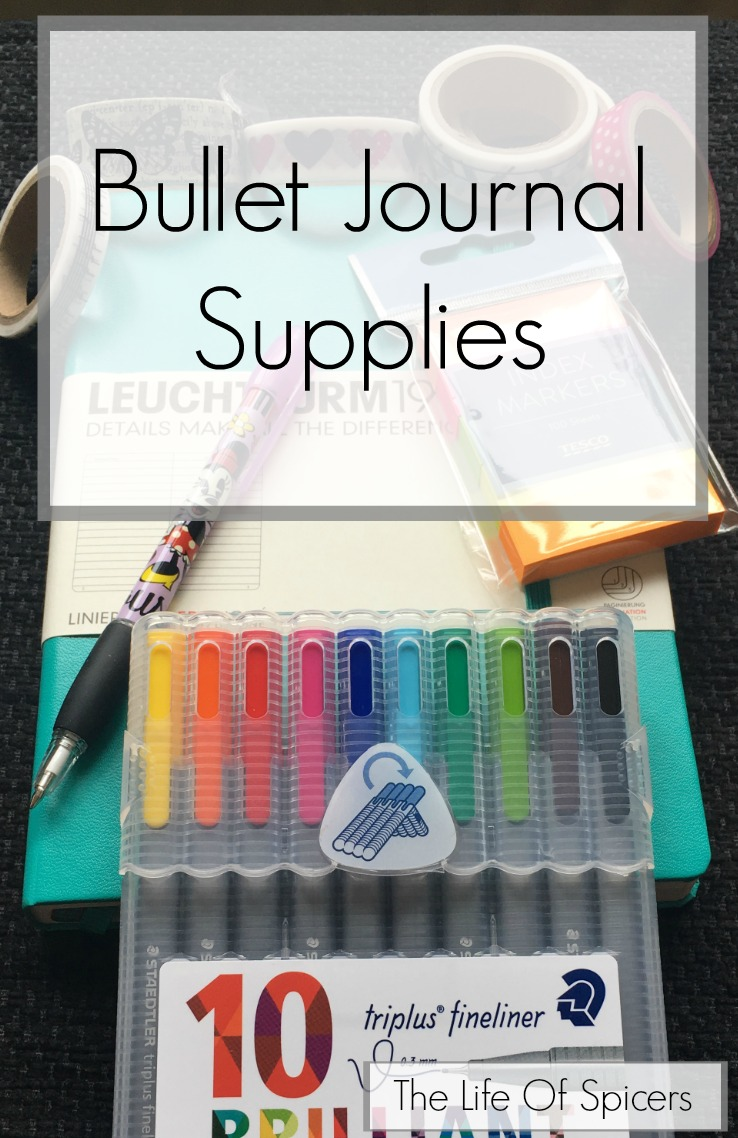 Bullet Journal Supplies The Life Of Spicers