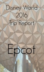 Disney World 2016 Trip Report - Epcot