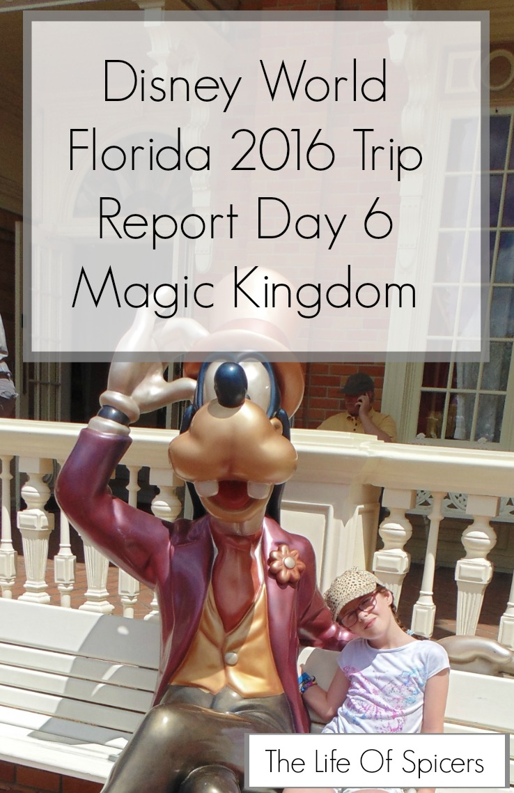 Disney World 2016 Diary – Magic Kingdom Day 6