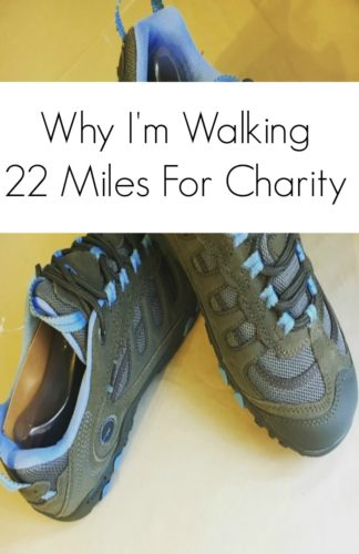 waking 22 miles for charity