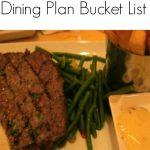 My Walt Disney World Dining Plan Bucket List