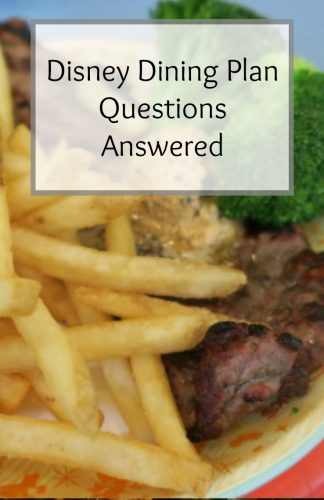 Disney Dining Plan Questions Answered