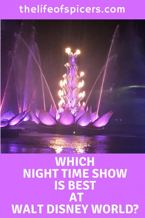 walt Disney world night time shows