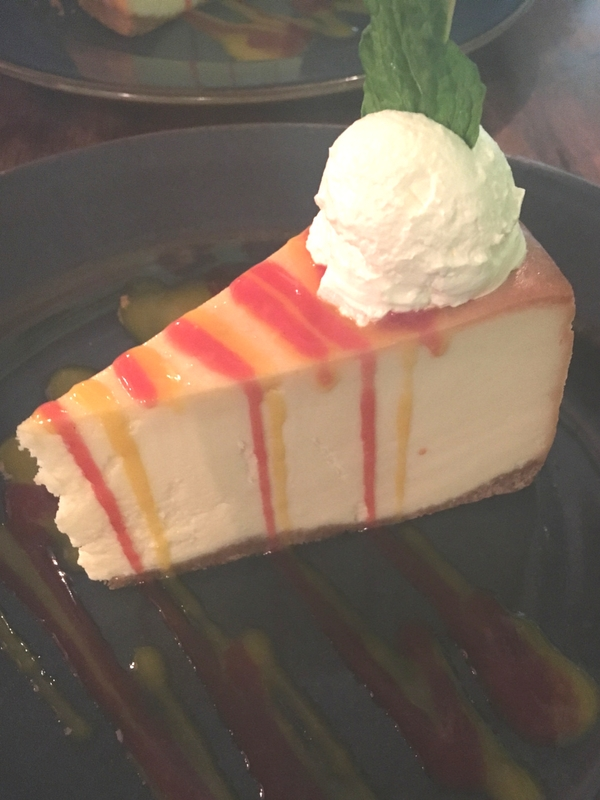 Yak and Yeti Restaurant cheesecake