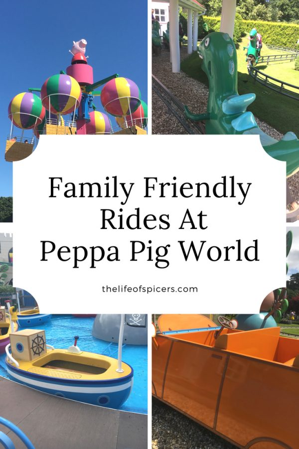 family friendly rides at Peppa pig World