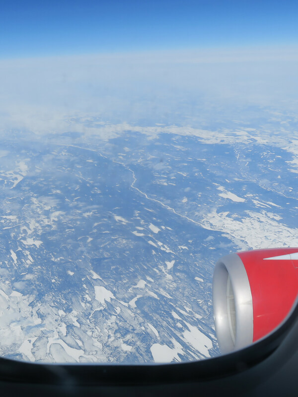 view from Virgin Atlantic plane from Gatwick to Orlando