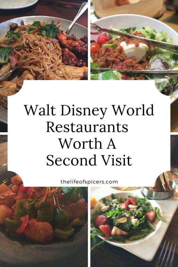 walt Disney world restaurants worth a second visit