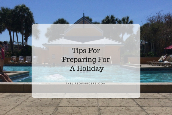 preparing for a holiday