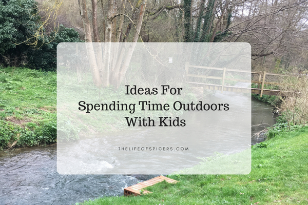 spending time outdoors with kids