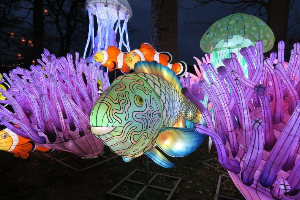 Longleat Festival Of Light underwater area