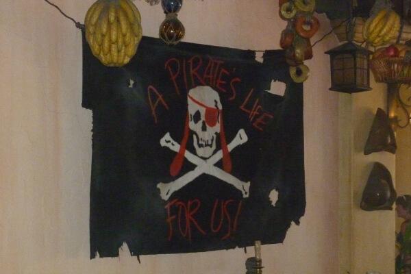 Magic Kingdom Adventureland pirate sign