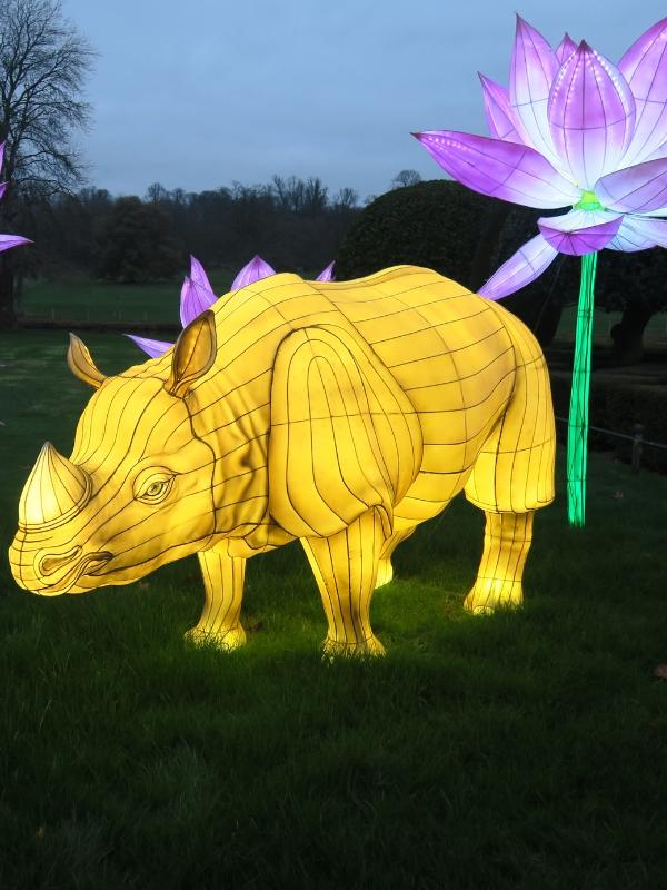 Longleat Festival Of Light rhino