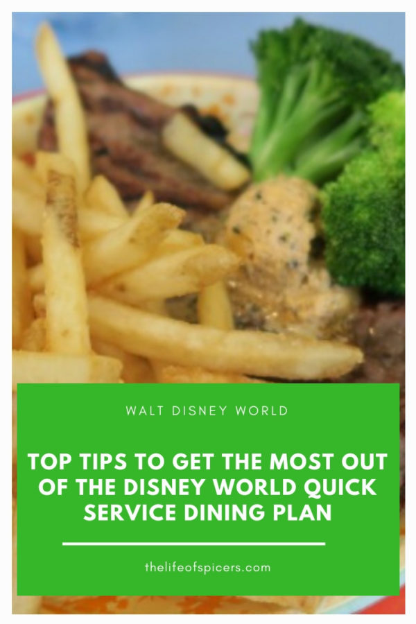 Disney quick service dining plan