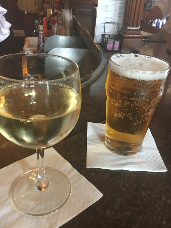 Epcot Rose and Crown Pub drinks
