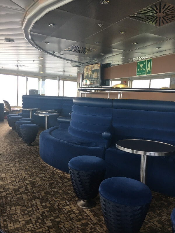 wightlink ferry seating area