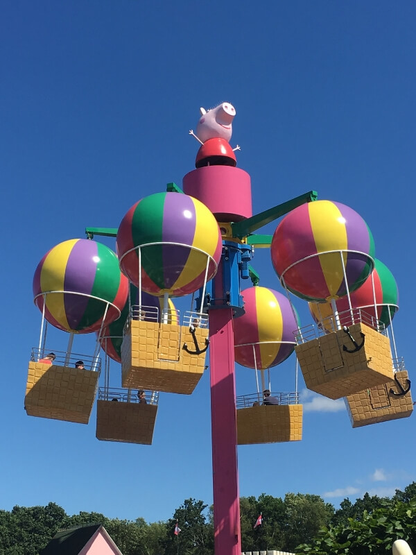peppa pig world balloon ride