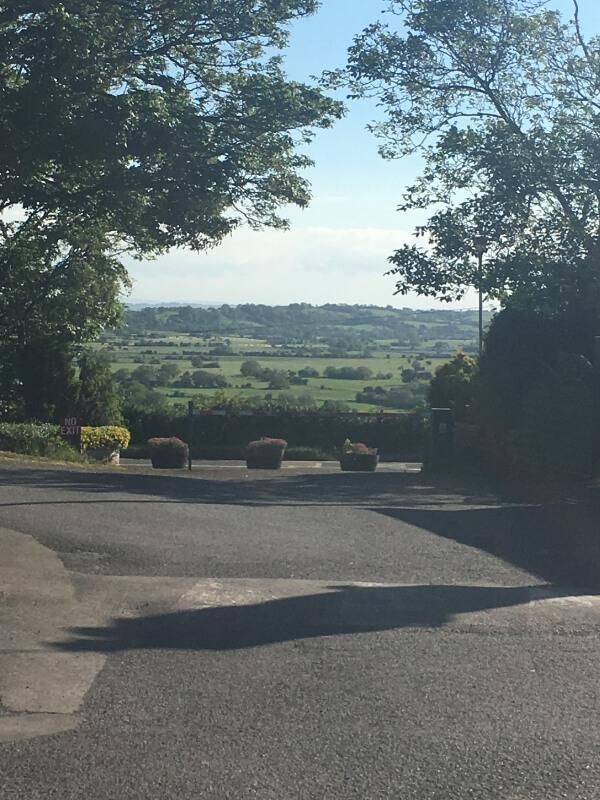 view across the Mendip hills in Somerset