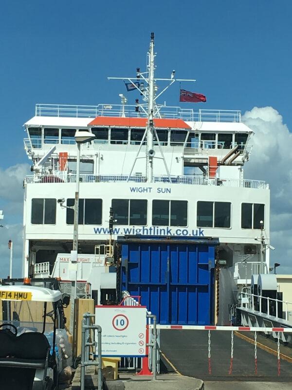 Wightlink Ferry Wight Sun