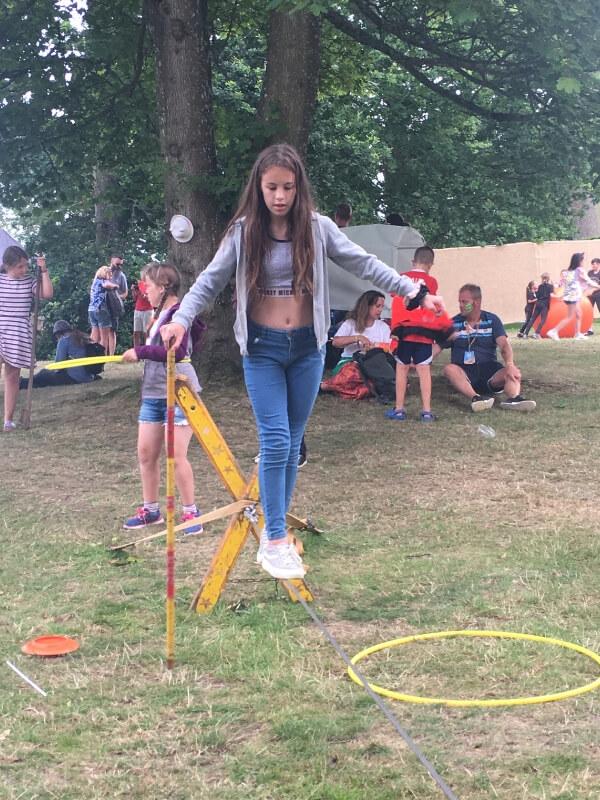 Camp Bestival circus skills