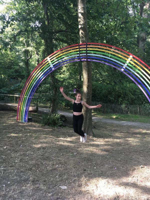 camp bestival rainbow